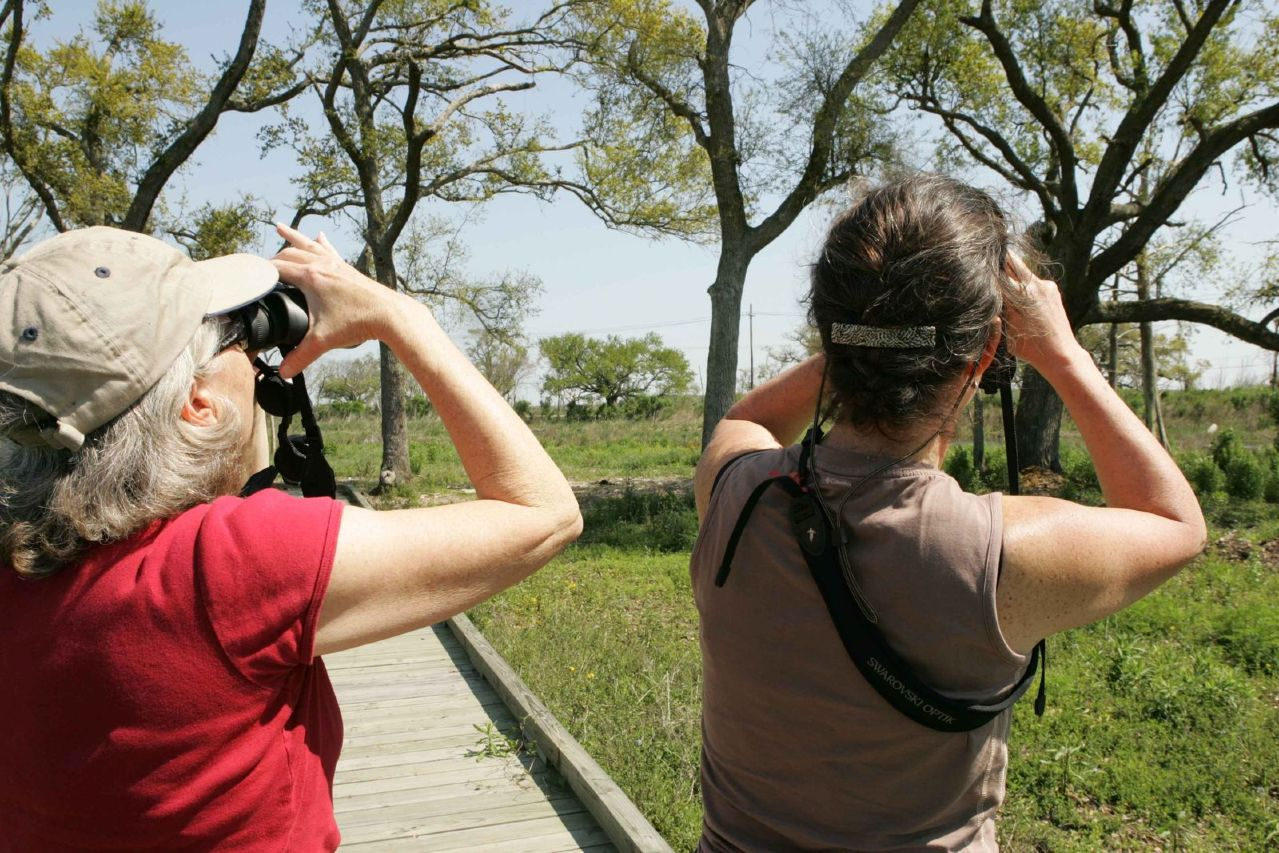 two-women-enjoy-their-favorite-activity-of-birdwatching